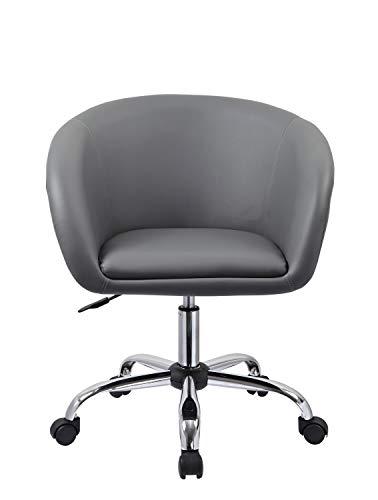 Bürostuhl in Schwarz Schreibtischstuhl ergonomisch Drehstuhl höhenverstellbar Stoff Netzbezug Duhome 0431